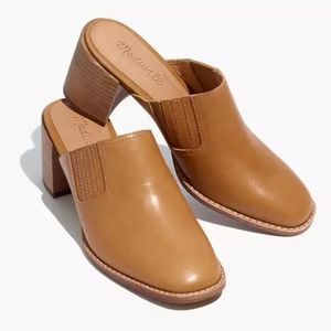 Madewell The Carey Mule in Leather Caramel Size 9
